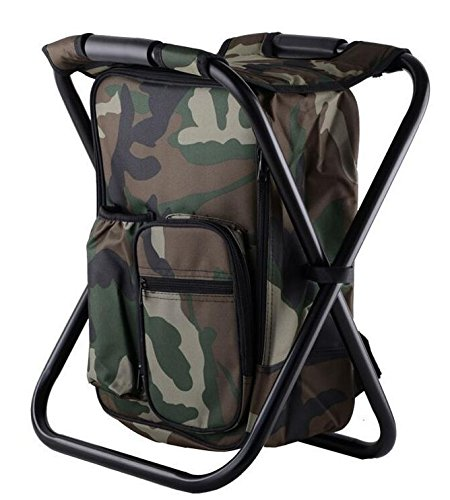 Z&HX sportsChaise de Chaise Chaise de Chaise sur Glace en Plein air Sac ¨¤ Dos Portable Multifonctionnel, Camo
