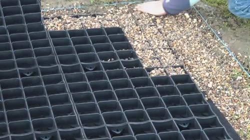 KetoPlastics 12 x Black Plastic Paving Driveway Grid Turf Grass Lawn Path...