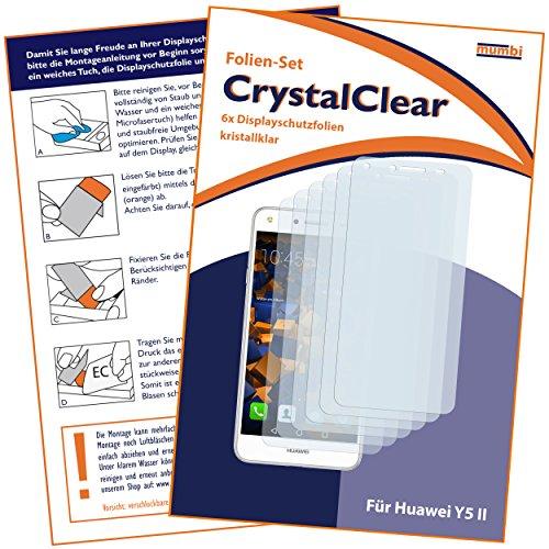 mumbi Schutzfolie kompatibel mit Huawei Y5 II Folie klar, Displayschutzfolie (6X) - 2