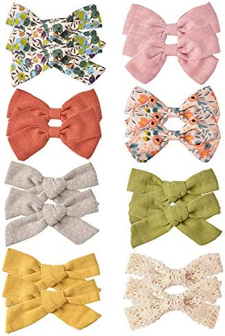 16 PCS Baby Girls Hair Bows Clips Hair Barrettes Accessory for Babies Infant Toddlers Kids in product image