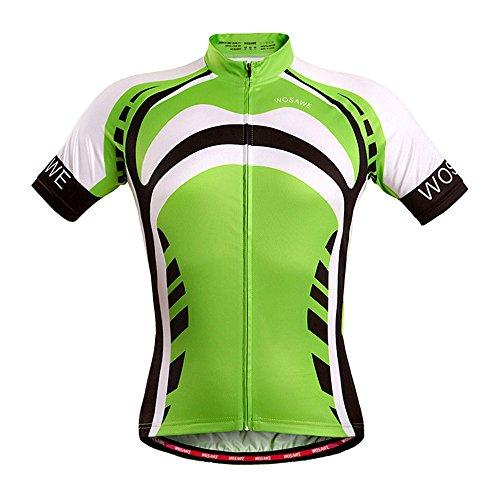 Czup, maglietta da ciclismo estiva da uomo, a maniche corte, leggera e traspirante, Green Giant, UK S