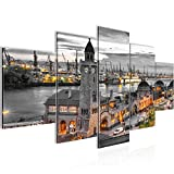 Bilder Hamburg Hafen Wandbild 200 x 100 cm Vlies - Leinwand