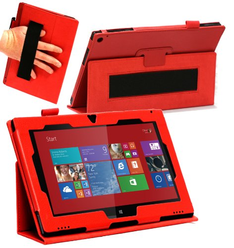 Navitech Série Surface Étui de protection Nokia Lumia 2520  - rouge