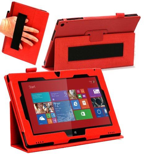 Navitech Rotes Faux Leder Case Cover mit Stand für das Nokia Lumia 2520 10.1 Windows Tablet