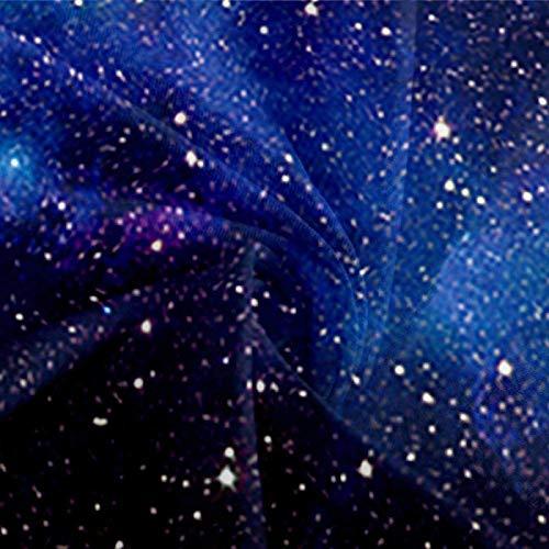 HKDGHTHJ Edredón Infantil Imagen Creativa 3D Cielo Estrellado del Universo Azul 220 x 230 CM Impresión Juego de Ropa de Cama Funda nórdica/Funda de edredón Sábana Fundas de Almohada Ropa de Cama Te