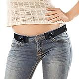 VBIGER Gürtel Unsichtbarer Elastischer Gürtel Ohne Schnalle gürtel Für Damen Herren Jeans Hosen Schwarz