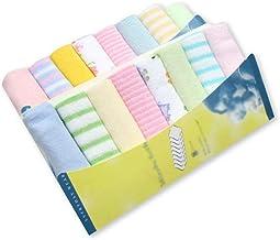 8 piezas - Toallas faciales de algod/ón suave natural premium para beb/és con dise/ño impreso Toallas faciales para beb/és reci/én 9.01x9.01 Set de cuadrados de muselina para beb/és reci/én nacidos