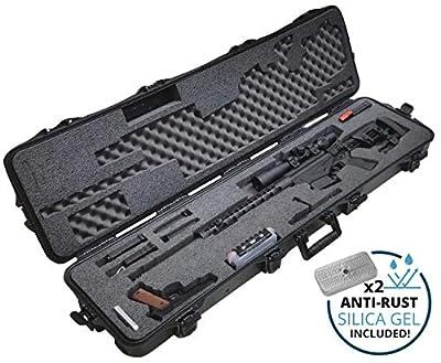 Case Club Pre-Cut Precision Rifle Waterproof Case with Accessory Box & Silica Gel to Help Prevent Gun Rust
