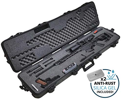Case Club Pre-Cut Precision Rifle Waterproof Case with Accessory Box & Silica Gel to Help Prevent Gun Rust