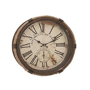 Deco 79 52557 Metal Rope Glass Wall Clock, 17̸...
