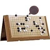 CGF- Ajedrez Juego portátil Go Set, Juego Completo de 161/361 Piedras, diseño de cuadrícula de 13x13 / 19x19, tamaño portátil para Viajes   2 Jugadores - Clásico Juego de Mesa de Estrategia Chino
