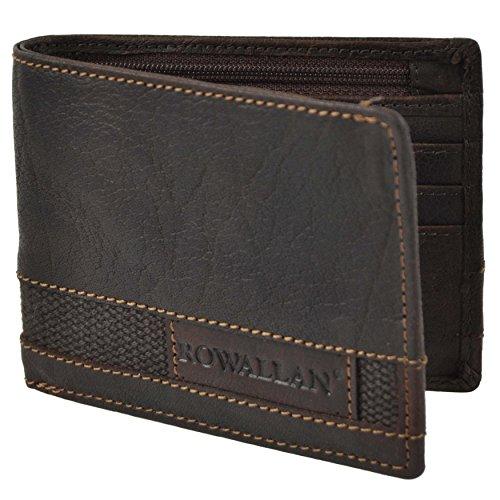 ROWALLAN Herren Büffelleder Geldbörse 2-fach Panama in Geschenkbox