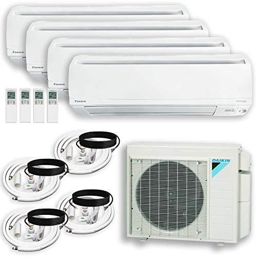 DAIKIN (4 Zone) 4MXS Air Conditioner Heat Pump + Maxwell 15 ft. Installation Kit + Wall Bracket (9000 + 9000 + 9000 + 15000 BTU)