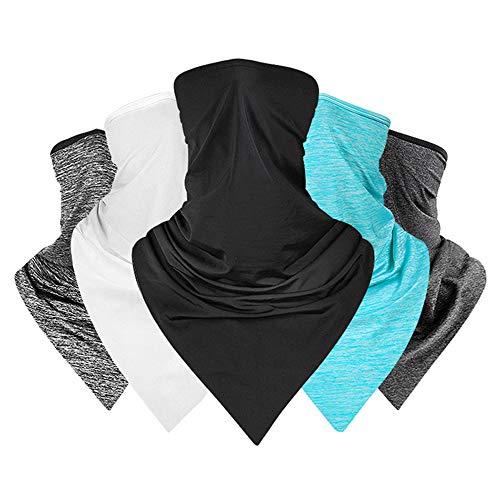 Roeam Multifunktionstuch Herren Schnell Trocknend UV-Schutz Eisseide Halstuch Mundschutz Maske schwarz,Atmungsaktiv, Staubdicht Zum Radfahren, Laufen, Laufen