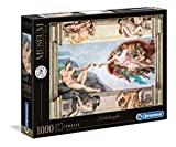 Clementoni- Michelangelo-Creazione dell'uomo Puzzle, 1000 Piezas, Multicolor (39496.8)