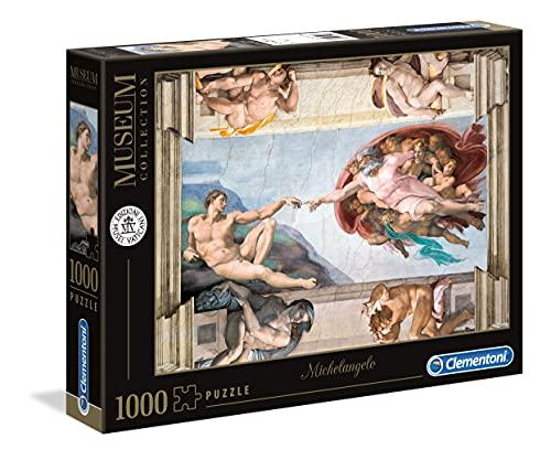 Clementoni Vatican Puzzle-Michelangelo: La Creazione dell'Uomo-1000 pezzi, Multicolore, 39496