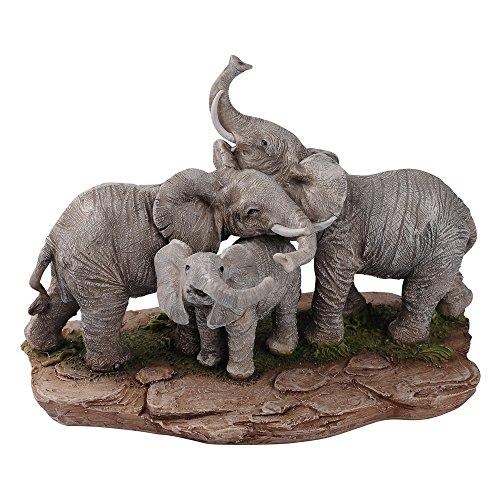 "Comfy Hour Farmhouse Home Decor Collection Our Cute 6"" Elephant Family Bundle Figurine, Polyresin"