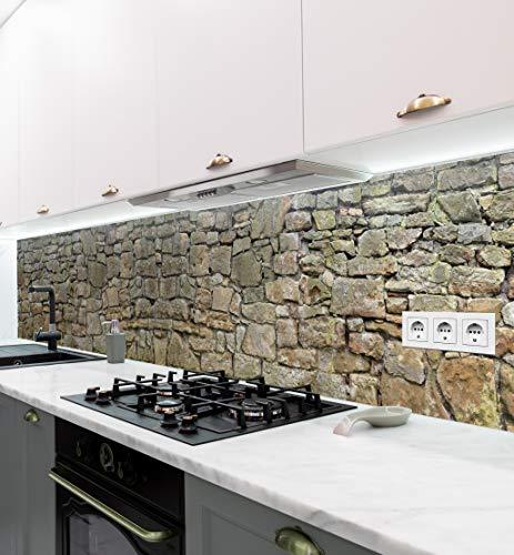MyMaxxi | selbstklebende Küchenrückwand Folie ohne bohren | Aufkleber Motiv Mauer 02 | 60cm hoch | adhesive kitchen wall design | Wandtattoo Wandbild Küche | Wand-Deko | Wandgestaltung