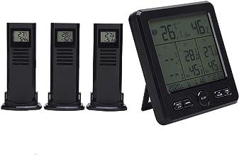 Estación meteorológica, termómetro de pantalla LCD de carga USB para exteriores, pantalla ℃ / ℉ para medición de humedad Medición de temperatura