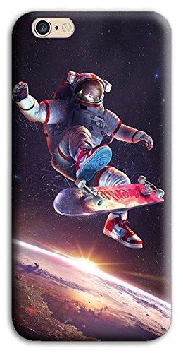 Mixroom - Cover Custodia Case in TPU Silicone Morbida per Apple iPhone 7 Plus M676 Astronauta su Skateboard
