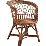Buff Wicker Child's Chair without Cushion