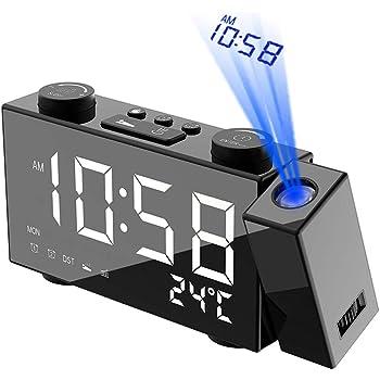 Galapara Despertador Proyector, LCD Radiocontrol inalámbrico ...