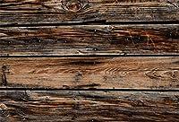 CSFOTO 8x6フィートの背景 硬材壁または木製の床 写真撮影用背景 パーティー装飾 素朴な木製 ヴィンテージ木製板 子供 赤ちゃん 大人 ポートレート 写真スタジオ小道具 ビニール壁紙
