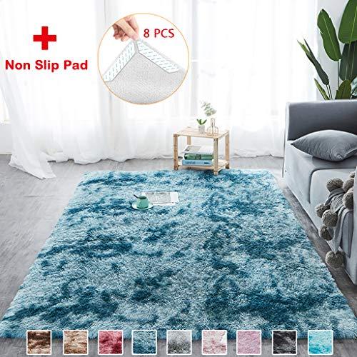 AMZERO Faux Lammfell Schaffell Teppich Wohnzimmer Wollteppich Faux Teppich Optik Nachahmung Wolle...