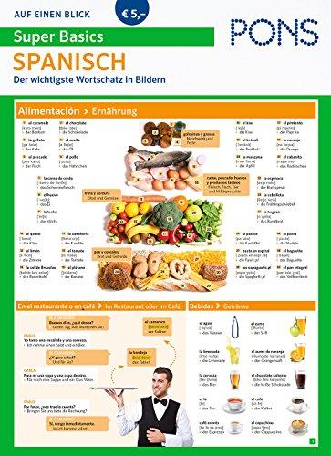 PONS Super Basics auf einen Blick Spanisch : Der wichtigste Wortschatz in Bildern (PONS Auf einen Blick)
