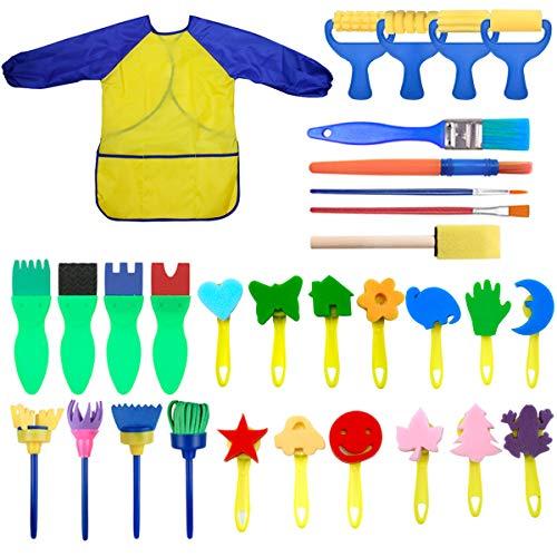 tempere kit bambini NATUCE Bambini Apprendimento Precoce Spugna Kit di pennelli per Pittura