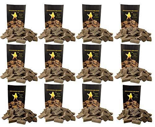 Norr-Dan 12 x 100 (insgesamt Also 1200 Stück) natürlicher Ofenanzünder aus Holzfaser # Grillanzünder Kaminanzünder Holzanzünder Feueranzünder Anzündwürfel Anzündhilfe (12 x 100)