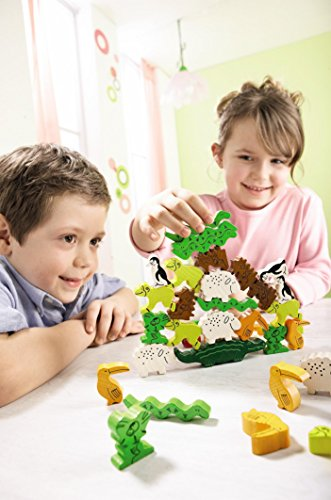 Image of HABA Animal Upon Animal - Classic Wooden Stacking Game Fun for The Whole Family (Made in Germany)