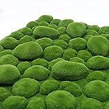 VIFERR Flocado de Hierba Falsa 50x50 CM simulación Musgo Hierba Falsa Adorno de vegetación Verde Artificial para decoración de Patio de jardín