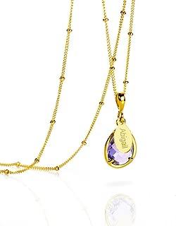 Personalized Alexandrite Necklace, June Pendant Necklace [TPwOV]