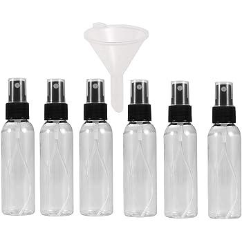 Viaje 5pcs 50ML Niebla Botella Del Aerosol Portátil Niebla Fina Botella Del Aerosol Vacío Frasco Dosificador Spray Maquillaje Claro Viajes Envase Retornable Para La Piel Cosmética Cuidado Loción: Amazon.es: Belleza