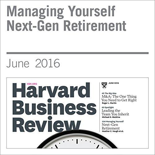 Managing Yourself Next-Gen Retirement audiobook cover art