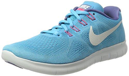 Nike Women's Free RN 2017 Running Shoe (5, Chlorine Blue/Off White/Polarized Blue)
