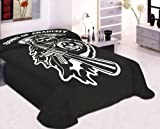 King Size Sons Of Anarchy Reaper Blanket- SOA Merchandise is Perfect for Home Decor, Gifts, Accessories, Memorabilia, Collectables-This is a Soft, Plush, Thick, Mink Blanket-THIS IS NOT A CHEAPLY MADE FLEECE THROW-Life Time Guarantee