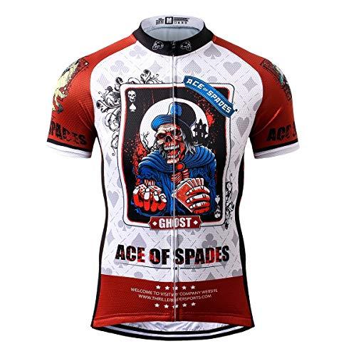 Thriller Rider Sports® Herren Ace of Spades Sport & Freizeit MTB Fahrradbekleidung Radtrikot X-Large