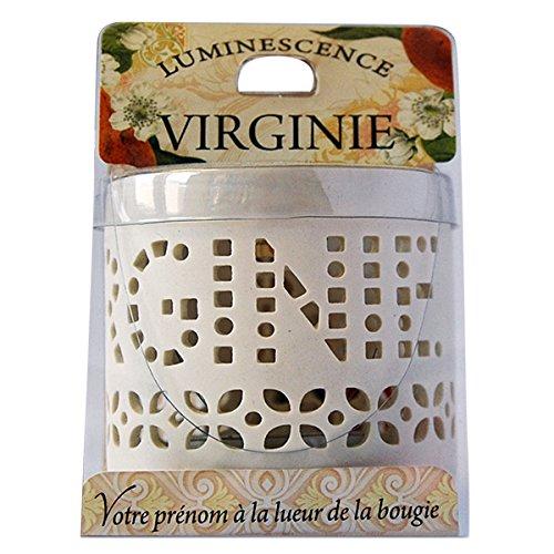 De Carterie 76009120 Virginia windlicht, theelicht porselein wit 11,1 x 7 x 7 cm