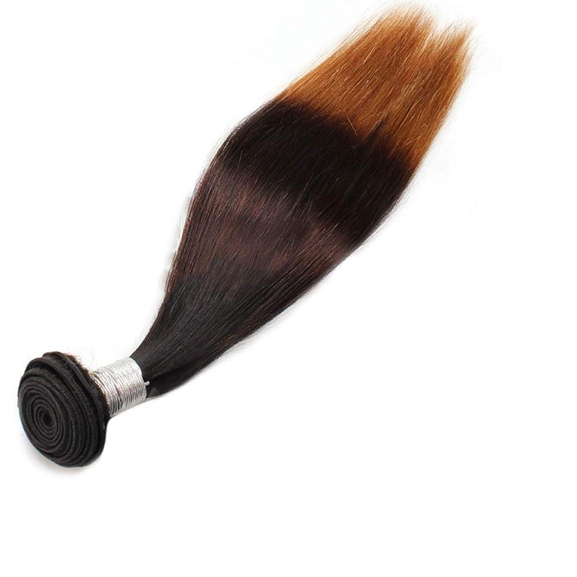 診断する会う合法WASAIO クロージャー本体の拡張3トーンカラーで、ブラジルの髪のバンドルカーリー人間ウィーブ (色 : ブラウン, サイズ : 14 inch)