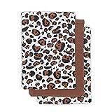 Jollein Waschhandschuh Leopard Natural 3er Pack, 536-848-65297