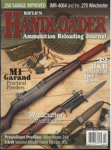Rifle's Handloader Ammunation Reloading Journal October 2018