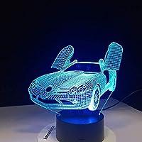 シザーズドア新しいスポーツカー3DランプUSBナイトライトマルチカラーLedRgbw照明ランプマリアテーブルキッズクリスマスギフト