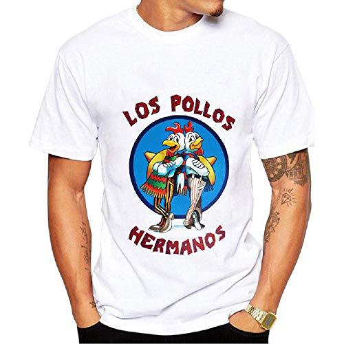 Camiseta los Pollos Hermanos - Hombre - niño - Camisa - Camiseta - Manga Corta - Breaking Bad - Heisenberg - Idea de Regalo - Color Blanco