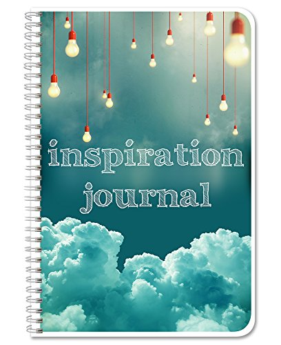 BookFactory Inspiration Journal/Gratitude Journal/Planner/Calendar/Agenda, 120 Pages - 6' x 9', Durable Thick Translucent Cover, Wire-O Binding (LOG-172-69CW-A-(Inspiration)-DX)