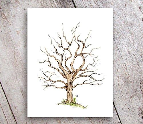 Fingerprint Family Tree 11x14 Print Guest Book Alternative UNFRAMED