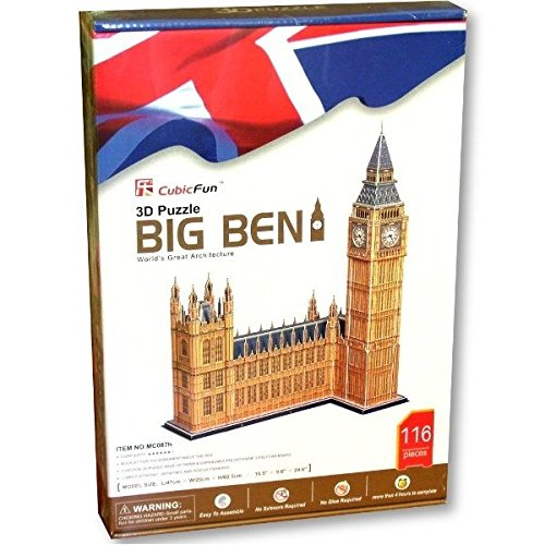 Cubic Fun 3D Puzzel Big Ben Luxus London 116-dlg XXL 62,5 cm