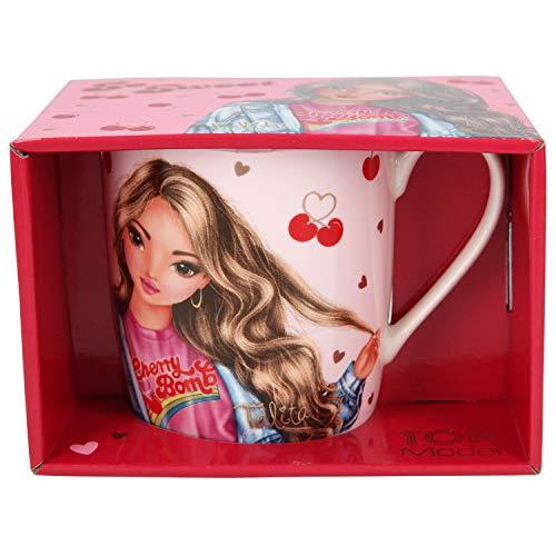 Depesche 11108 Becher im Geschenkkarton, TOPModel Cherry Bomb, ca. 300 ml, rosa