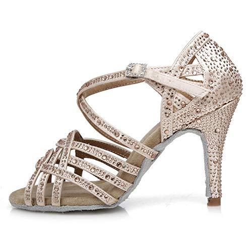 AOQUNFS Zapatos de Baile de Salón para Mujer/Niña Latino Salsa Bachata Zapatos...